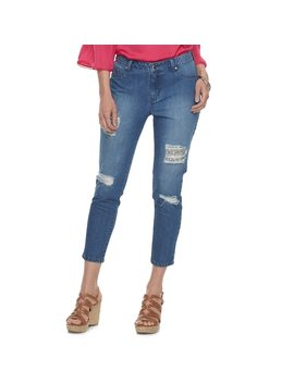 Women's Jennifer Lopez Ripped Crop Super Skinny Jeans by Kohl's