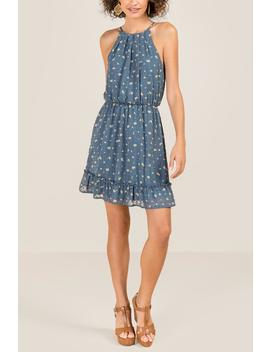 Calliope Ruffle Bottom Dress by Francesca's