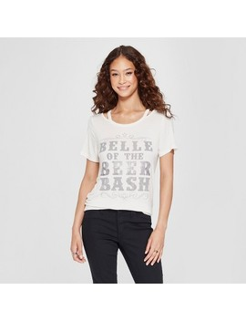 Women's Short Sleeve Belle Of The Beer Bash Clavicle Cut Out Graphic T Shirt   Zoe+Liv   Heather Gray by Shop All Zoe+Liv
