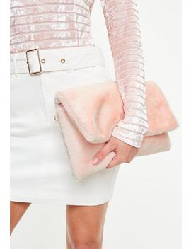 Pink Cuddle Clutch Bag by Missguided