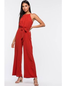 Mesmerized Halter Jumpsuit by A'gaci