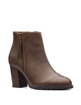 Leather Ankle Booties by Clarks