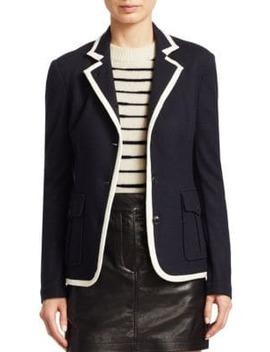 Uni Contrast Piping Wool Blazer by Rag & Bone