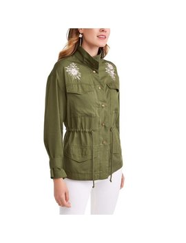 Time And Tru Women's Embroidered Utility Jacket by Time And Tru