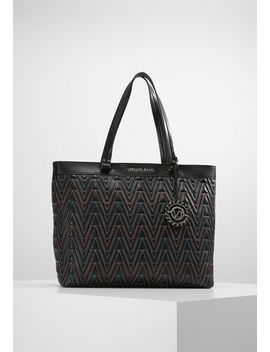 Quilted Zipper   Tote Bag by Versace Jeans