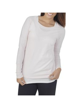 Women's Essentials Soft Long Sleeve Scoop Neck T Shirt by Fruit Of The Loom