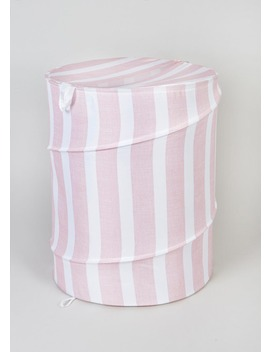 Pop Up Striped Laundry Hamper (126cm X 56cm) by Matalan