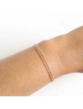 Dainty Gold Bracelet, Thin Gold Bracelet, Simple Chain Bracelet, Thin Layering Bracelet, Delicate Chain Bracelet, Plain Thin Chain Bracelet by Ivolvebeauty