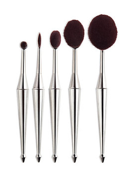 Face Base Cosmetics 5 Pc Oval Brush Set by Face Base