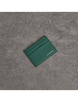 Grainy Leather Card Case by Burberry