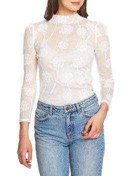Embroidered Mesh Top by 1.State
