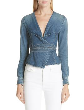 Biba Denim Wrap Top by Jean Atelier