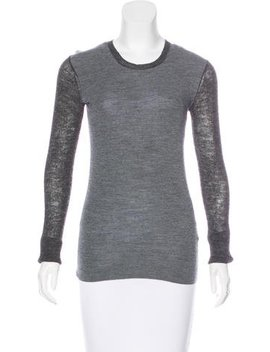 Céline Wool & Alpaca Blend Colorblock Sweater by Céline