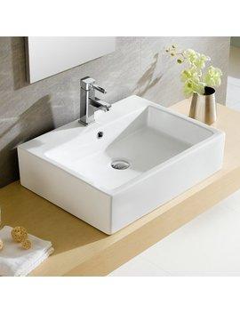 Fine Fixtures Modern Ceramic Rectangular Vessel Bathroom Sink With Overflow & Reviews by Fine Fixtures