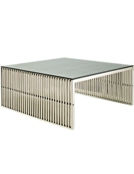 Gridiron Coffee Table Silver   Modway by Shop All Modway