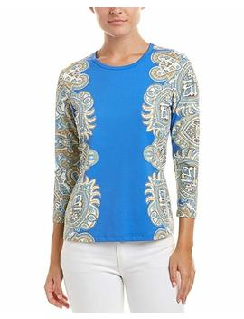J.Mclaughlin Womens Catalina Cloth Top, L, Blue by J. Mc Laughlin