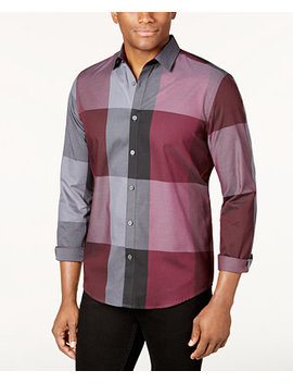 Men's Plaid Long Sleeve Shirt, Classic Fit, Created For Macy's by Alfani