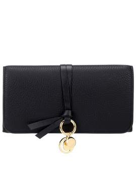 Alphabet Long Leather Wallet by Chloé