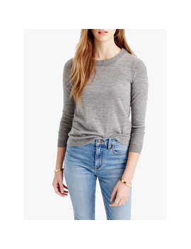 J.Crew Tippi Merino Wool Jumper, Heather Smoke by J.Crew