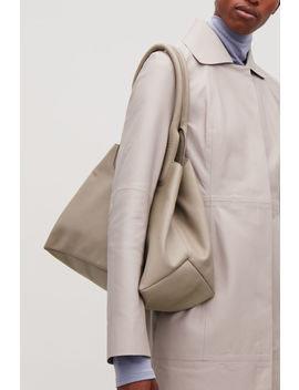 Padded Detailed Leather Bag by Cos