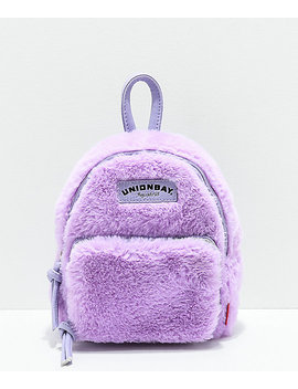 Unionbay Fuzzy Lavender Mini Backpack by Unionbay