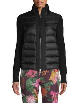 Maglia Mixed Media Cardigan by Moncler