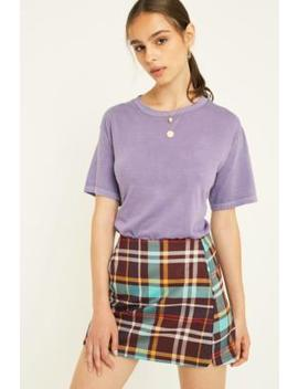Uo Maroon Check Pelmet Skirt by Urban Outfitters