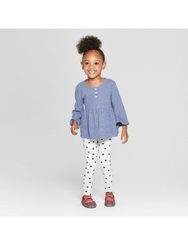 Toddler Girls' 3/4 Sleeve Tunic & Leggings Set   Cat & Jack™ Blue by Shop All Cat & Jack™