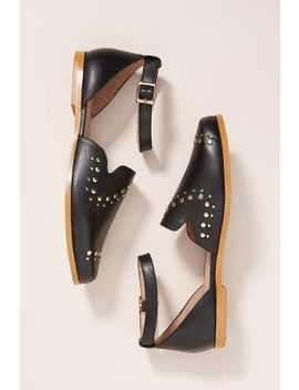 Anthropologie Studded City Flats by Anthropologie