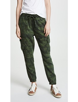 Bronze Stripe Camo Sweatpants by Pam & Gela