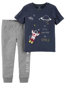 2 Piece Space Tee & French Terry Jogger Set by Carter's