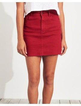 Classic Stretch Ultra High Rise Denim Skirt by Hollister