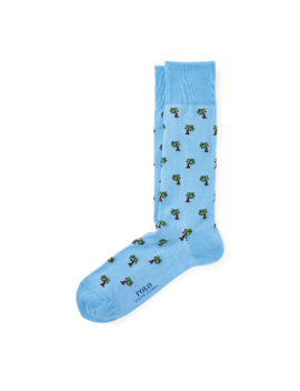 Palm Tree Cotton Blend Socks by Ralph Lauren