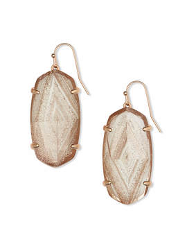 Esme Rose Gold Drop Earrings In Gold Dusted Glass by Kendra Scott