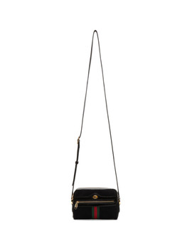 Black Suede Ophidia Bag by Gucci