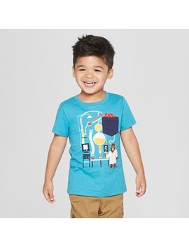 Toddler Boys' Candy Apple Science With Bear Scientist Short Sleeve T Shirt   Cat & Jack™ Turquoise by Shop All Cat & Jack™