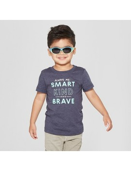 Toddler Boys' Always Me: Smart, Kind And Brave Short Sleeve T Shirt   Cat & Jack™ Navy by Shop All Cat & Jack™