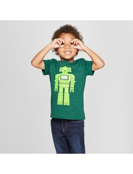 Toddler Boys' Robot Short Sleeve T Shirt   Cat & Jack™ Green by Shop All Cat & Jack™