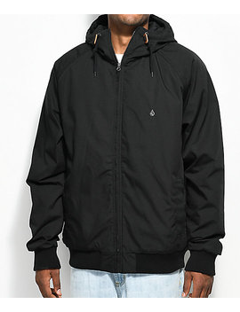 Volcom Hernan Insulated Black Bomber Jacket by Volcom
