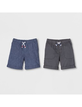 Toddler Boys' 2pk Pull On Shorts   Cat & Jack™ Black/Light Blue by Shop All Cat & Jack™
