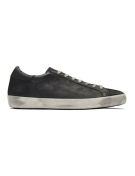 Black Skate Superstar Sneakers by Golden Goose