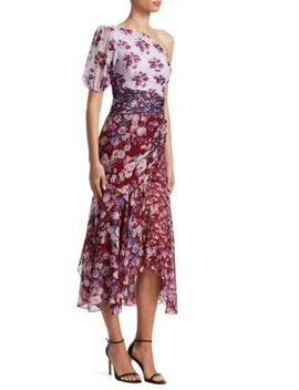Laura Printed Trumpet Midi Dress by Amur