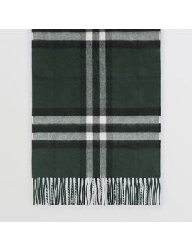 Gosha X Burberry Check Cashmere Double Scarf by Burberry