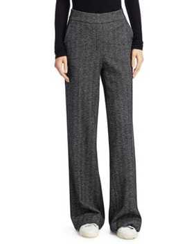 Talbert Herringbone Wide Leg Pants by Theory