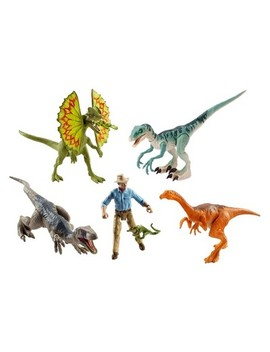 Jurassic World Legacy Collection Dr. Grant Figure And Dinosaurs 6pk by Shop All Jurassic World