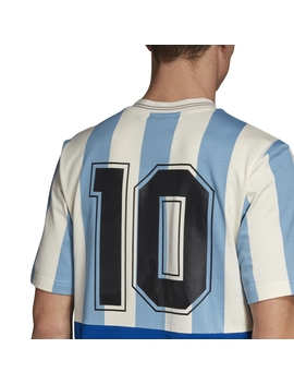 Argentina Mash Up Jersey T Shirt Shade Blue / Echo White by Adidas Originals