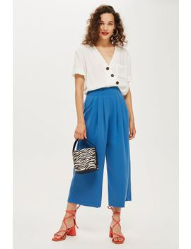 Pleat Detail Culottes by Topshop