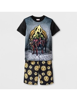 Boys' Avengers Pajama Set   Black by Shop All Avengers