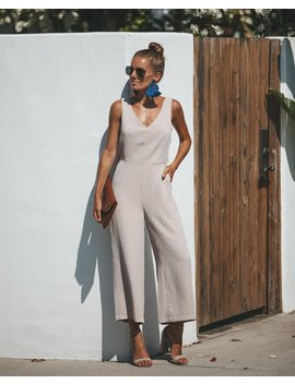 Gisela Pocketed Jumpsuit   Taupe by Vici