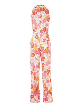 **Floral High Neck Jumpsuit By Glamorous Petite by Topshop